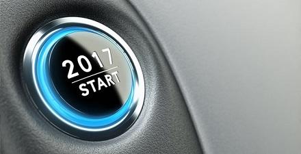 2017 Start Button Blue