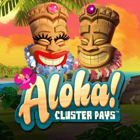 Aloha Cluster Pays NetEnt Slot Logo Square