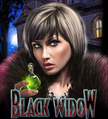Black Widow Slot Game Logo