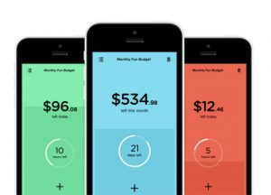 budget apps different colours