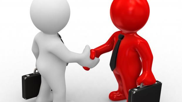 Business Deal Handshake Cartoon