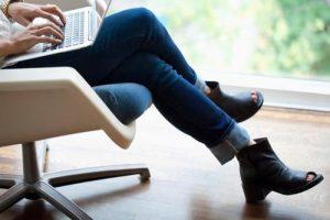 crossed legs
