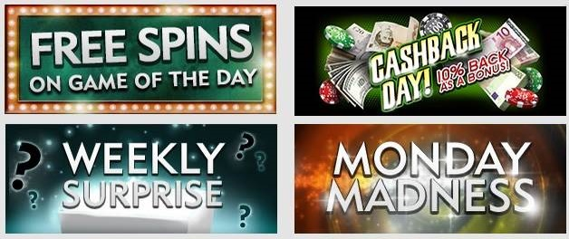 Dazzle Casino Regular Promotions