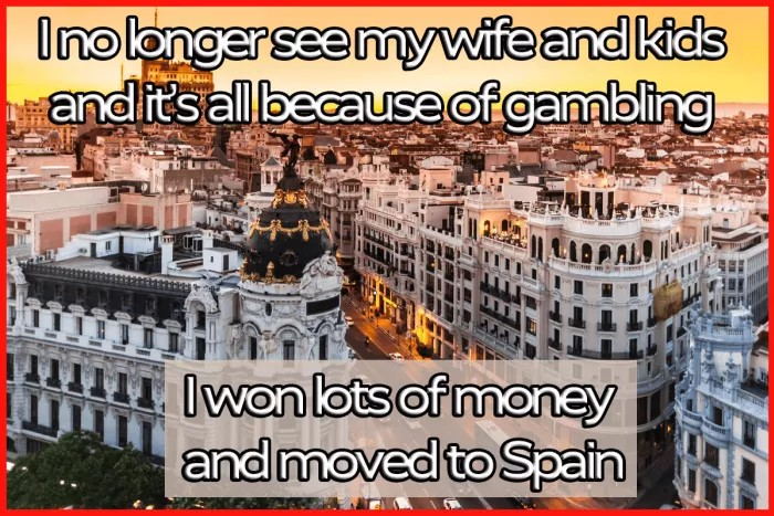 Gambling Win Move To Spain Comic