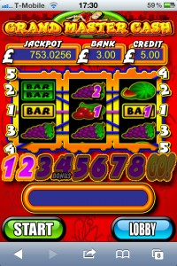 grand master cash mobile slot from pocketfruity