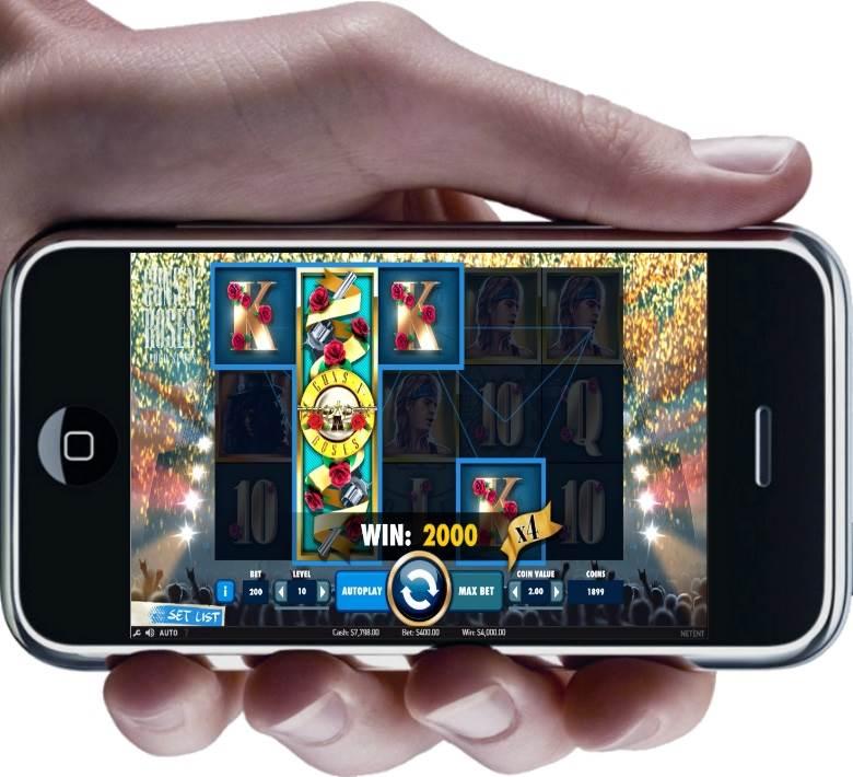 Guns N Roses NetEnt Slot - Mobile