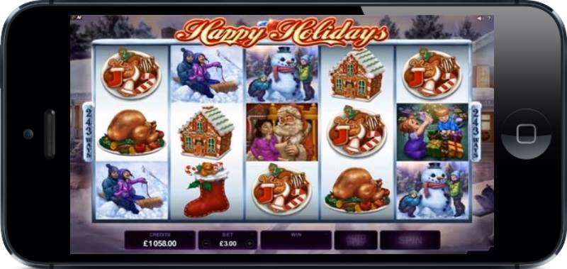 Happy Holidays Slot by Microgaming Gameplay