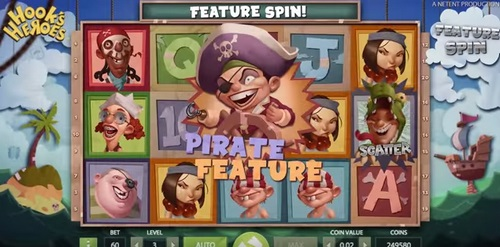 Hook's Heroes Slot by NetEnt - Pirate Feature