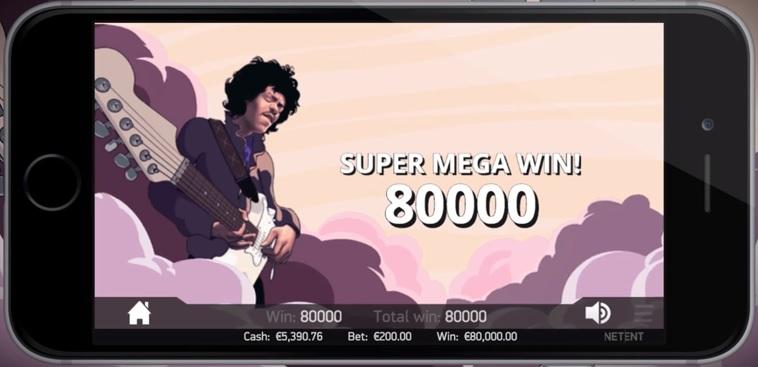 Jimi Hendrix NetEnt Slot - Super Mega Win