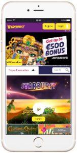 Kerching Casino in an iPhone 7