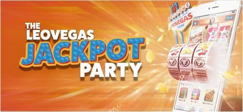Leo Vegas Casino Jackpot Party Promotion Banner