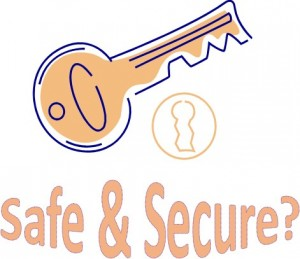 Lock and Key Cartoon with Word Art