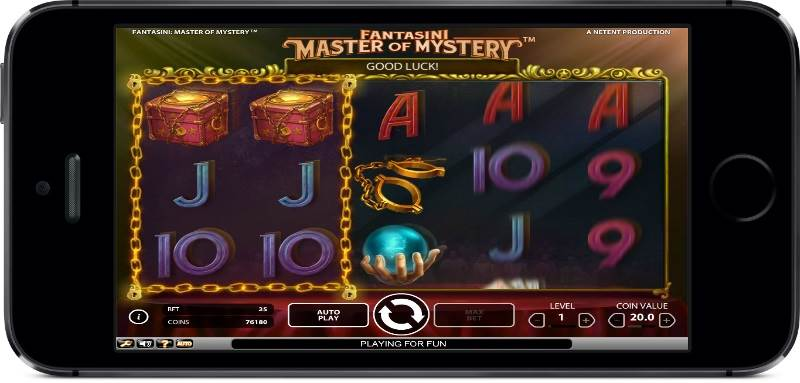 Master of Mystery Slot by NetEnt - Gameplay on Mobile