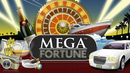 Mega Fortune NetEnt Slot Logo