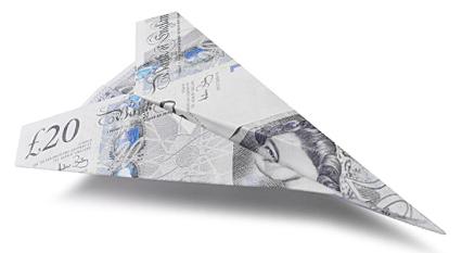 Money Paper Plane British Pound