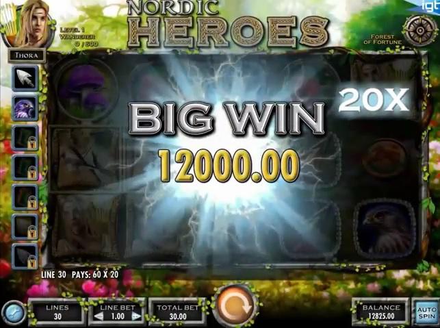 Nordic Heroes IGT Slot - Big Win