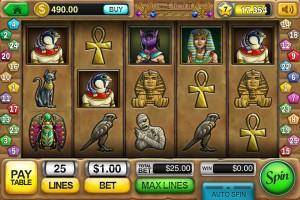 pharaoh's treasure mobile slot from slots app