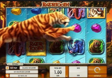 Razortooth Slot by Quickspin - Tiger Leaping