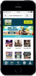 Reel Island Casino Lobby on Mobile