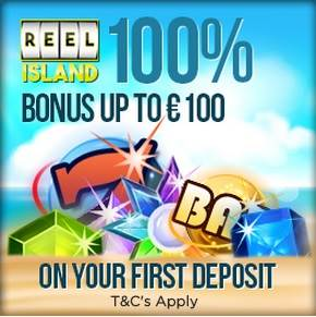Reel Island Casino Welcome Bonus Banner