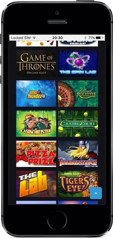 Royal Swipe Casino Games on Mobile