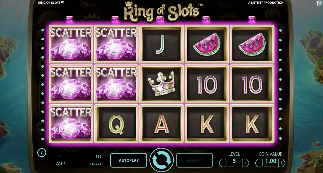 king of slots scatter