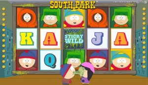 Sticky wild during the Stan Bonus game on South Park