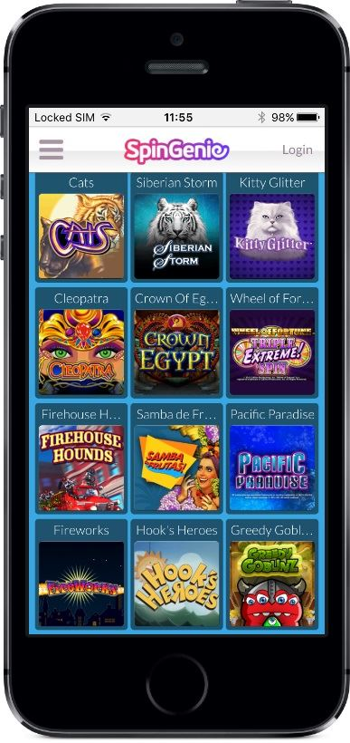 Spin Genie Casino Games on Mobile