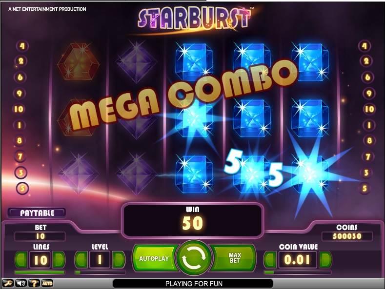 Starburst Slot by NetEnt - Mega Combo