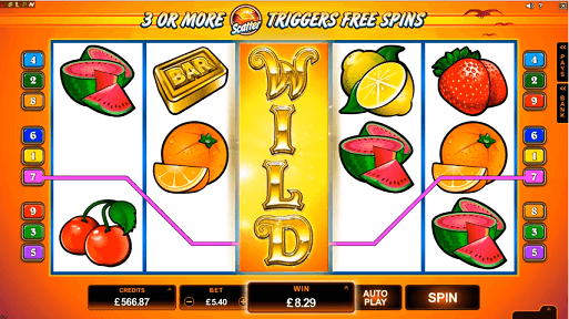 SunTide Microgaming Slot - Expanding Wilds