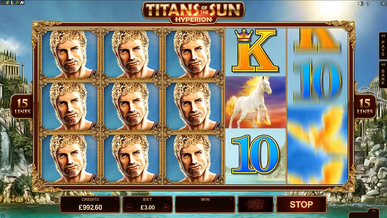 Titans of The Sun Hyperion Slot by Microgaming