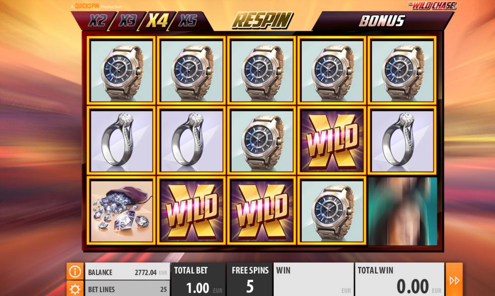 Wild Chase Quickspin Slot Wilds