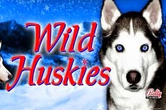 Wild Huskies Mobile Slot Logo