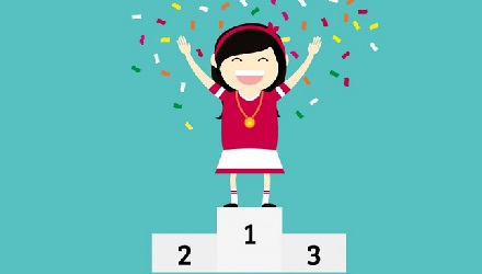 Winner Illustration Girl First Place