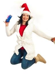 Woman Jumps for Joy after Getting Bonus